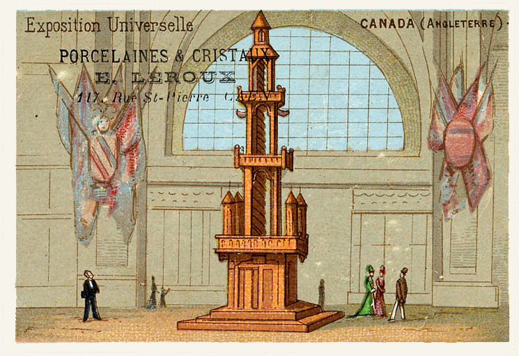Expo Paris 1889 - Carte Illustration - Canada section Anglaise