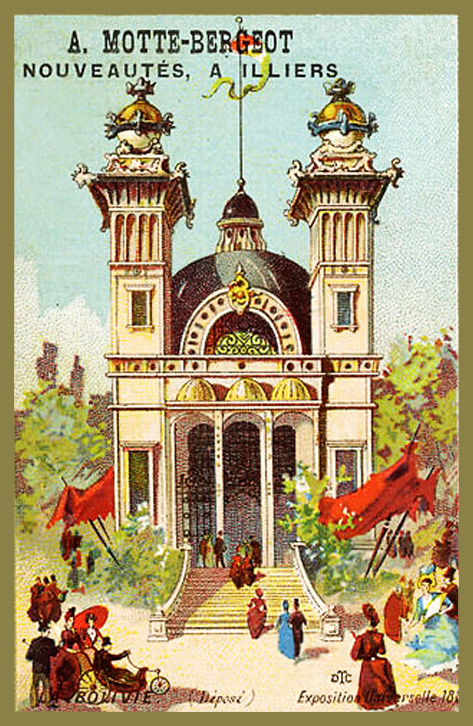 Expo Paris 1889 - Carte Illustration - La Bolivie