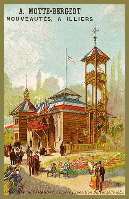 Expo Paris 1889 - Carte Illustration - Exposition du Paraguay