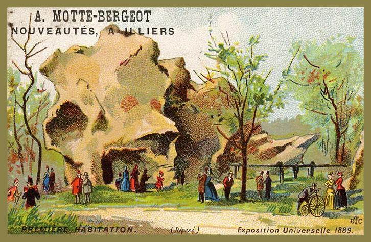 Expo Paris 1889 - Carte Illustration - Première Habitation
