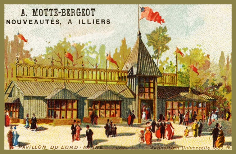 Expo Paris 1889 - Carte Illustration - Pavillon du Lord-Maire
