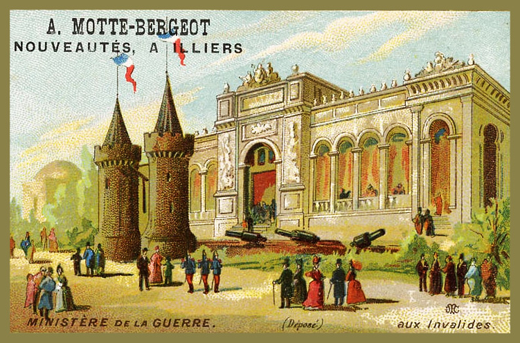 Expo Paris 1889 - Carte Illustration - Ministère de la Guerre
