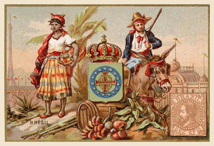 Expo Paris 1889 -  Carte souvenir - Brésil