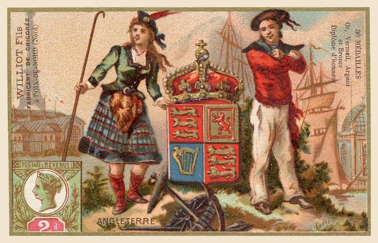 Expo Paris 1889 -  Carte souvenir - Angleterre