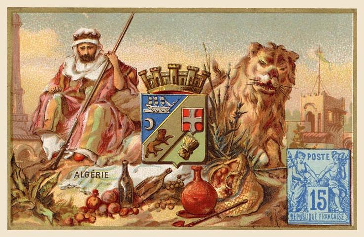 Expo Paris 1889 -  Carte souvenir - Algérie