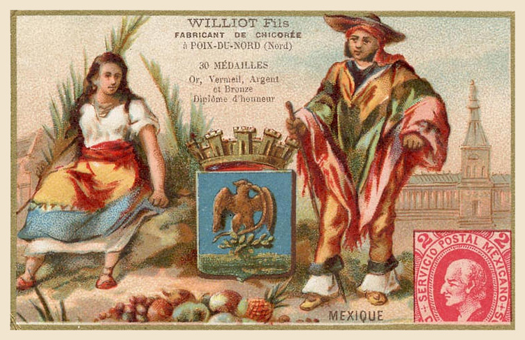 Expo Paris 1889 -  Carte souvenir - Mexique