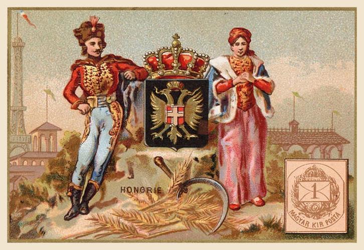 Expo Paris 1889 -  Carte souvenir - Hongrie