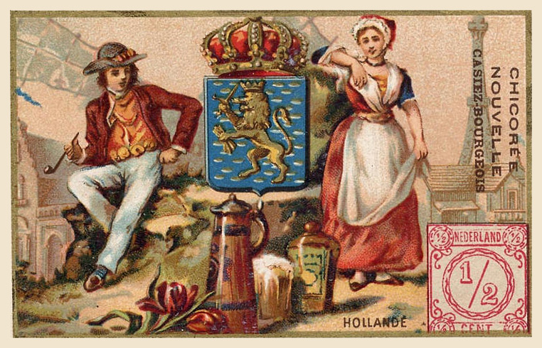 Expo Paris 1889 -  Carte souvenir - Hollande