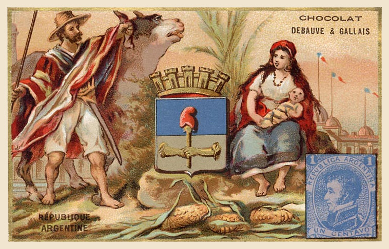 Expo Paris 1889 -  Carte souvenir - République Argentine