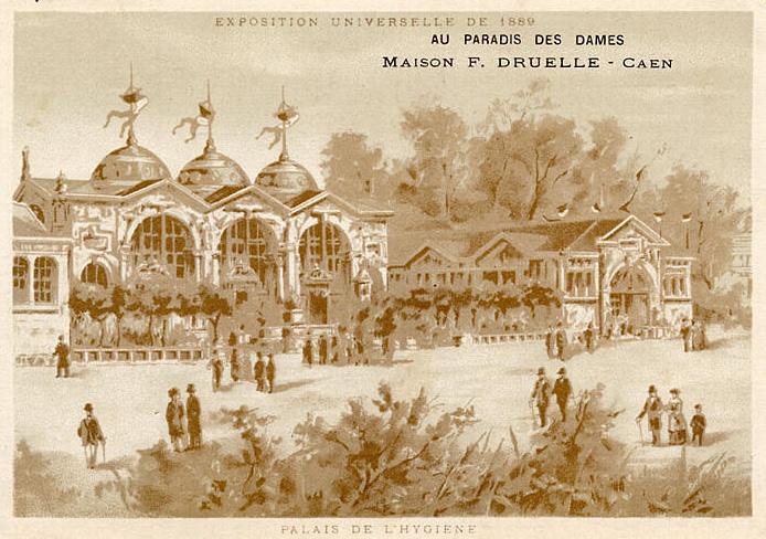 Expo Paris 1889 -  Illustration - Palais de l hygiène
