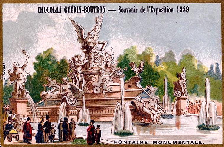 Souvenir Exposition de Paris 1889 - Fontaine Monumentale