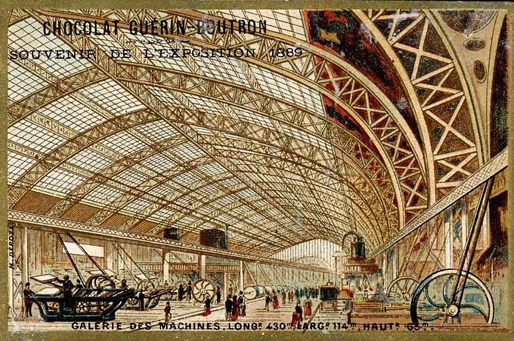Souvenir Exposition de Paris 1889 - Galerie des Machines