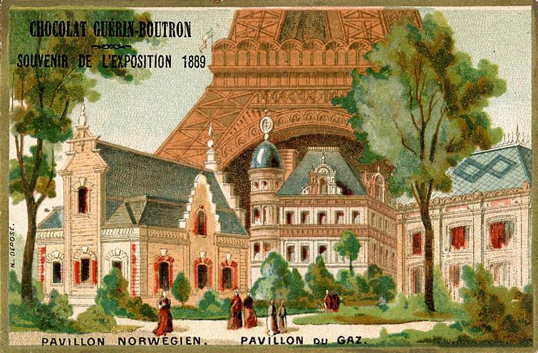 Expo Paris 1889 - Pavillon Norgévien - Pavillon du Gaz