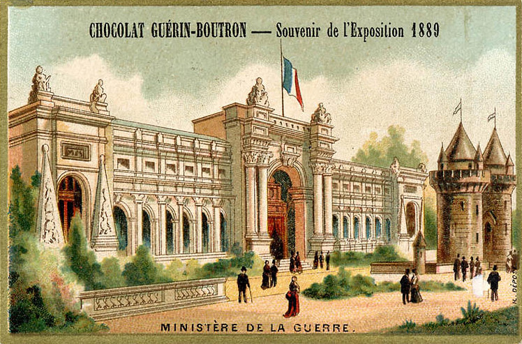 Expo Paris 1889 - Ministère de la Guerre