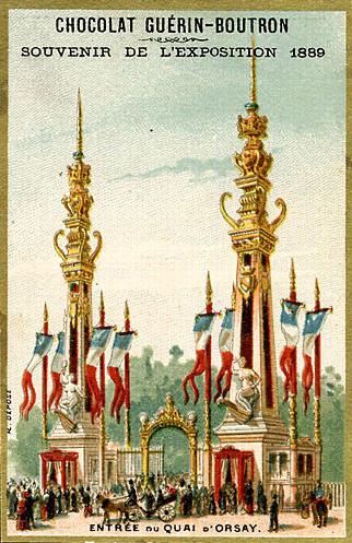Souvenir Exposition de Paris 1889 -  Entrée du quai d orsay