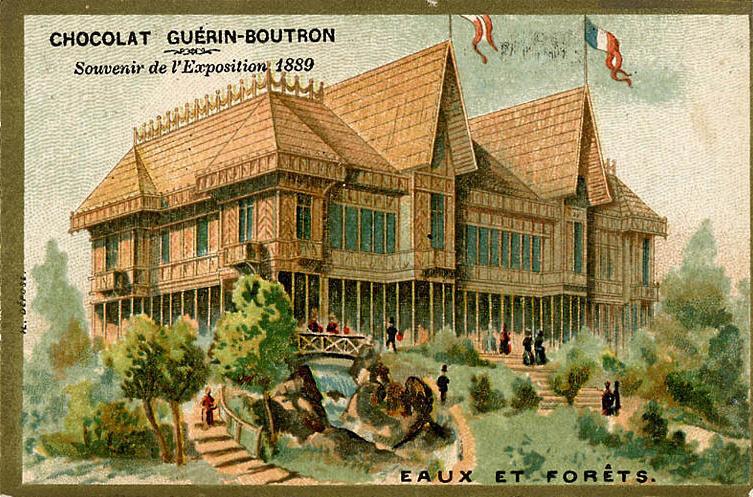 Souvenir Exposition de Paris 1889 - Pavillon des eaux et forêts