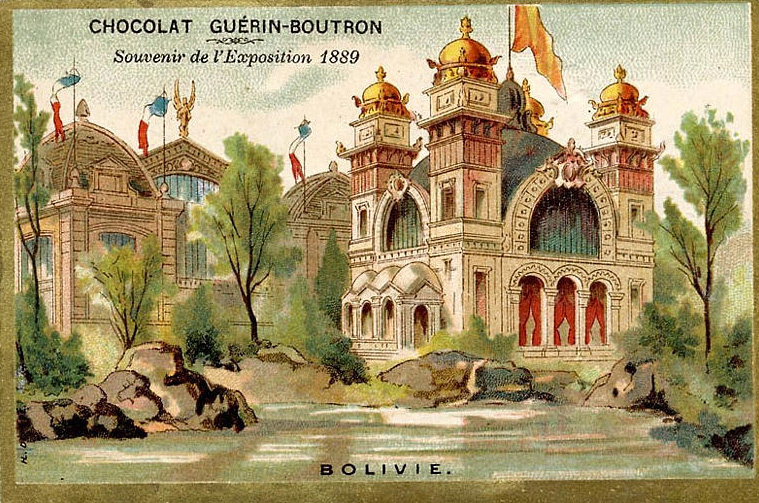 Souvenir Exposition de Paris 1889 - Pavillon de la Bolivie