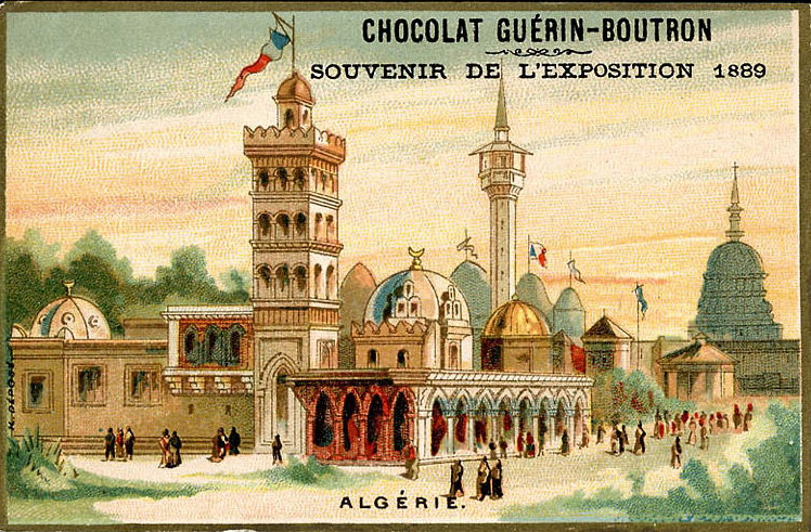 Souvenir Exposition de Paris 1889 - Pavillon de l Algérie