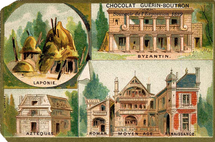 Souvenir Exposition de Paris 1889 - Histoire de l habitation humaine