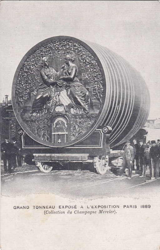 Expo Paris 1889 - Foudre Champagne Mercier