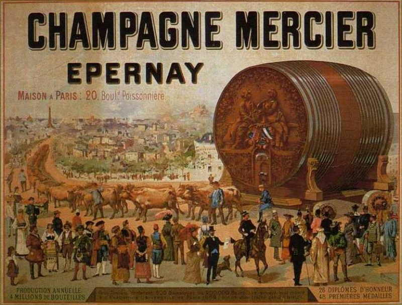 Expo Paris 1889 - Illustration du Foudre Champagne Mercier
