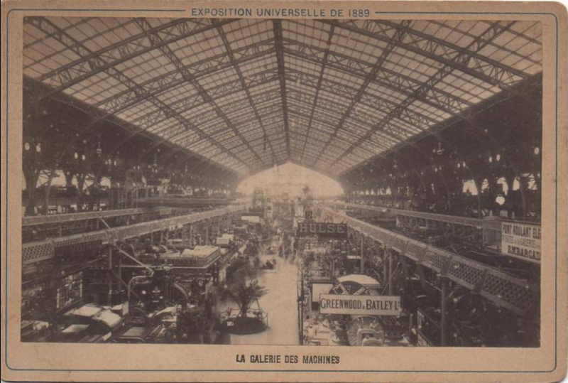 Expo Paris 1889 - La Galerie des Machines
