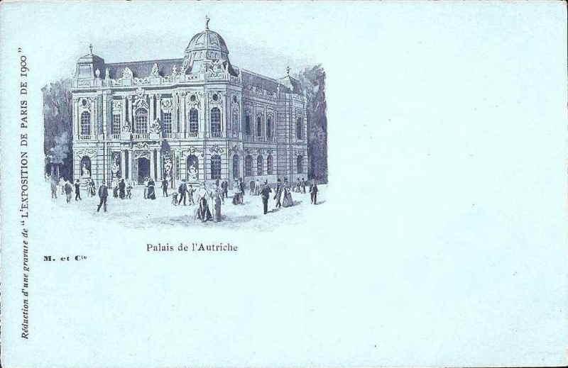 Expo Paris 1900 - Carte Postale - Pavillon de l Autriche