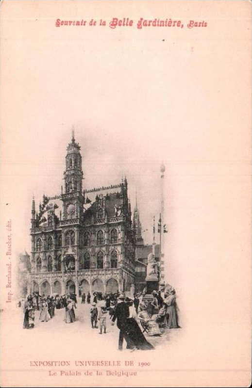 Expo Paris 1900 - Carte Postale - Pavillon de la Belgique