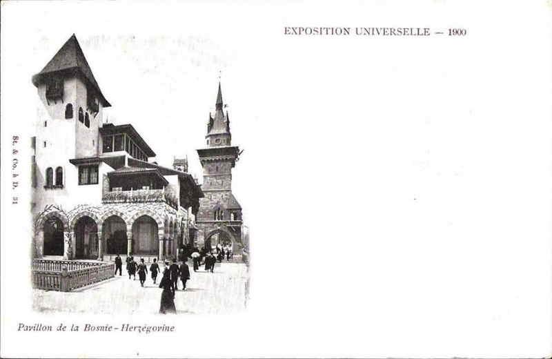 Expo Paris 1900 - Carte Postale - Pavillon de la Bosnie-Herzégovine