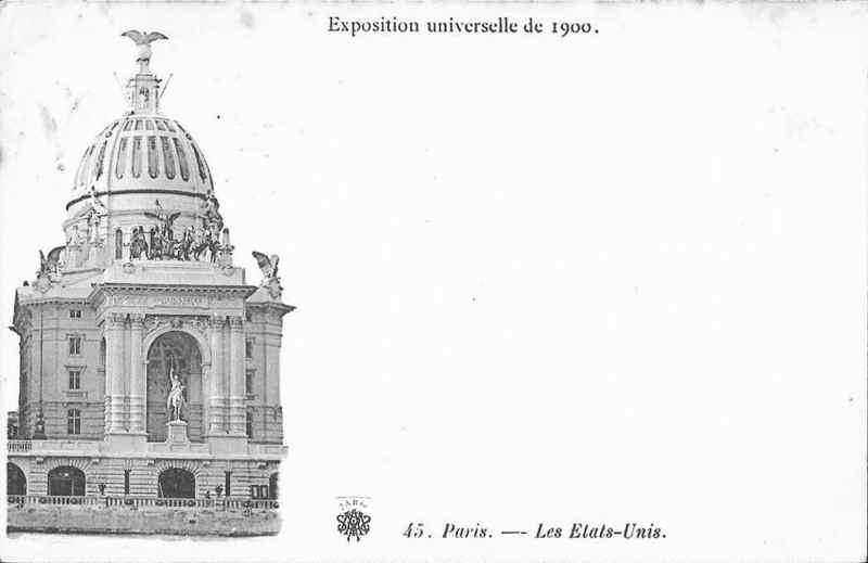 Expo Paris 1900 - Carte Postale - Pavillon des Etats-Unis