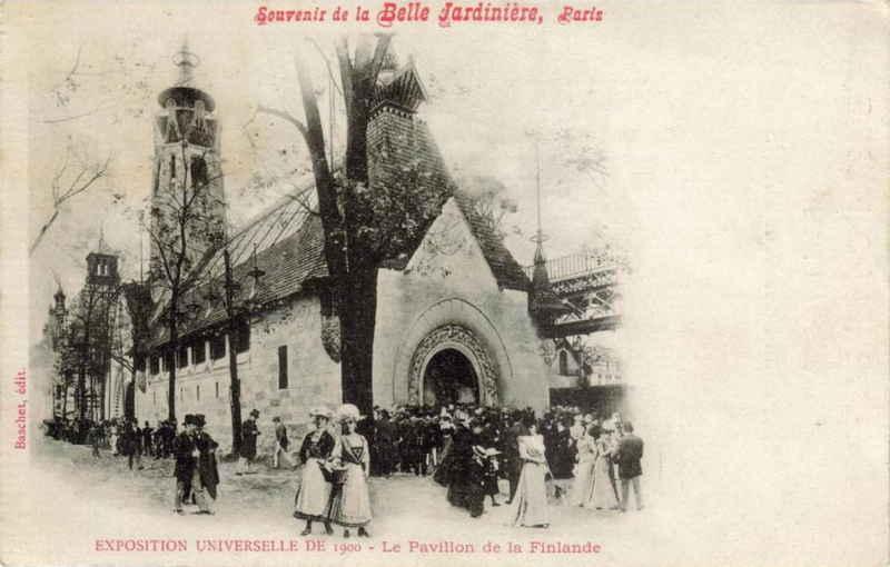 Expo Paris 1900 - Carte Postale - Pavillon de la Finlande