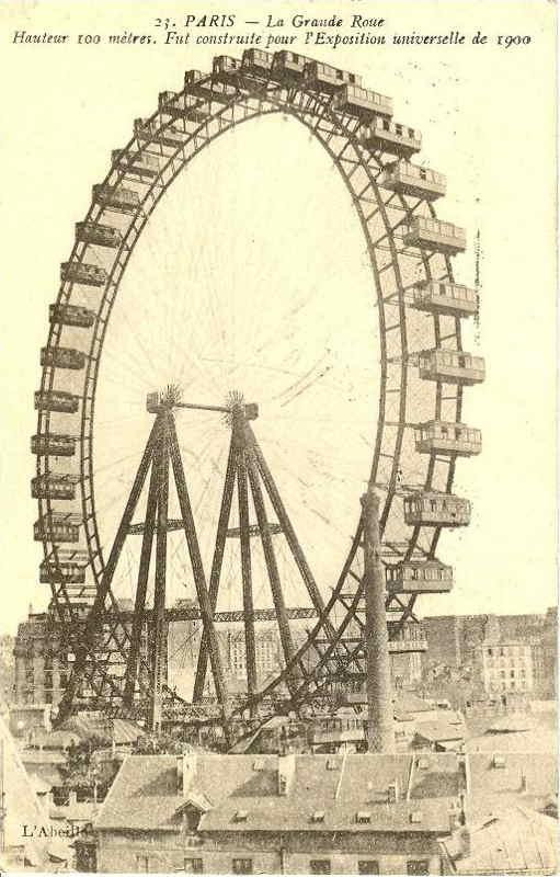 Expo Paris 1900 - Carte Postale - Grande Roue