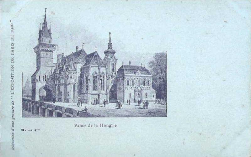 Expo Paris 1900 - Carte Postale - Pavillon de la Hongrie