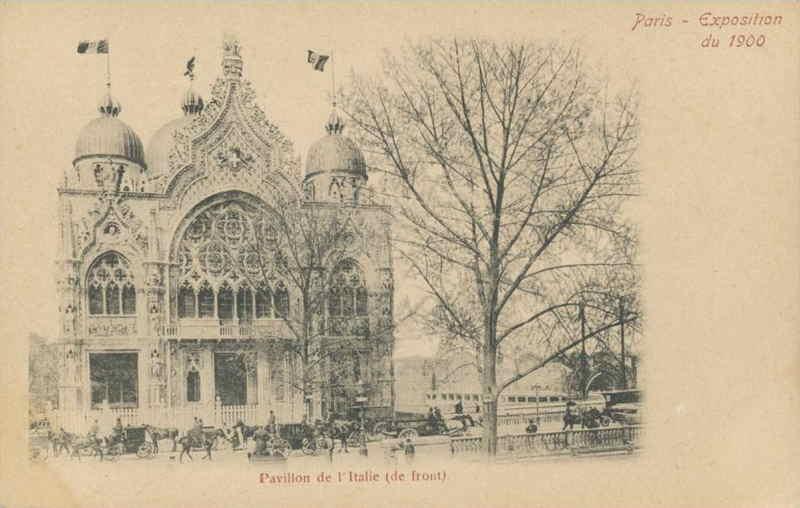 Expo Paris 1900 - Carte Postale - Pavillon de l Italie