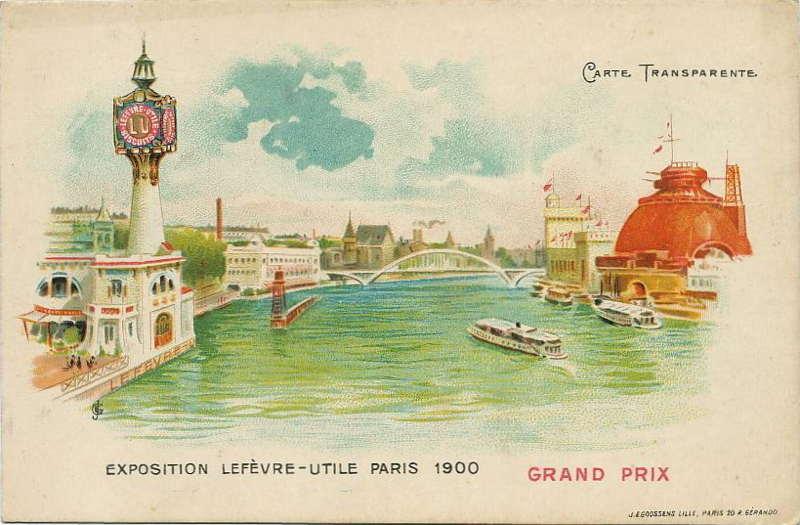 Expo Paris 1900 - Carte Postale - Pavillon Lefèvre-Utile