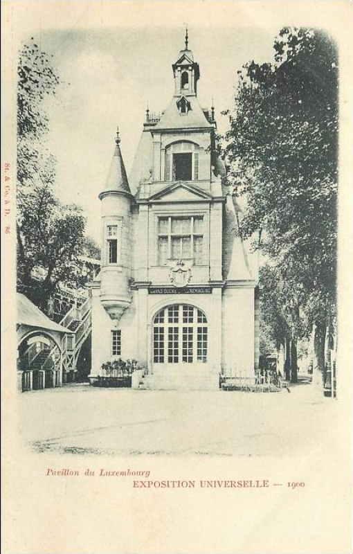 Expo Paris 1900 - Carte Postale - Pavillon de la Luxembourg