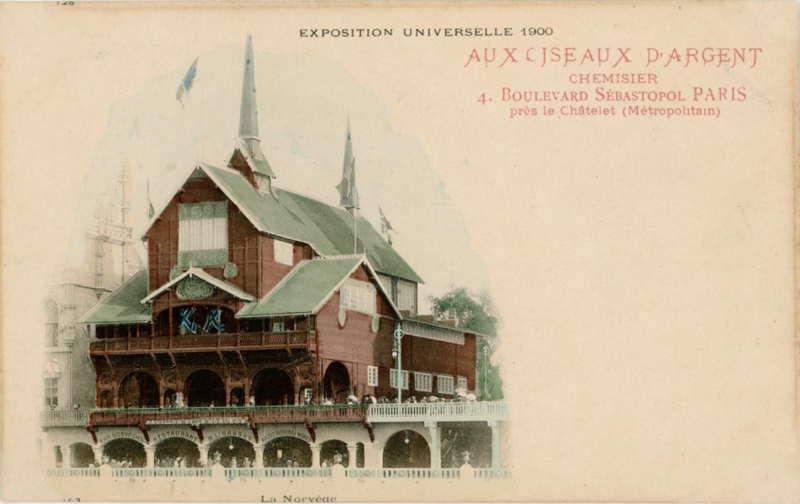 Expo Paris 1900 - Carte Postale - Pavillon de la Norvège