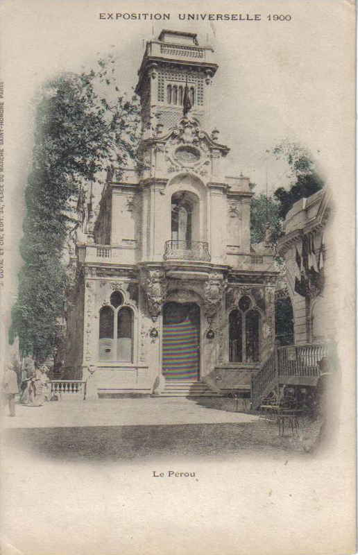Expo Paris 1900 - Carte Postale - Pavillon du Pérou