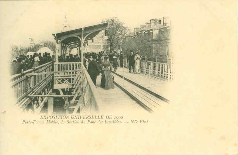 Expo Paris 1900 - Carte Postale - Plate-Forme mobile