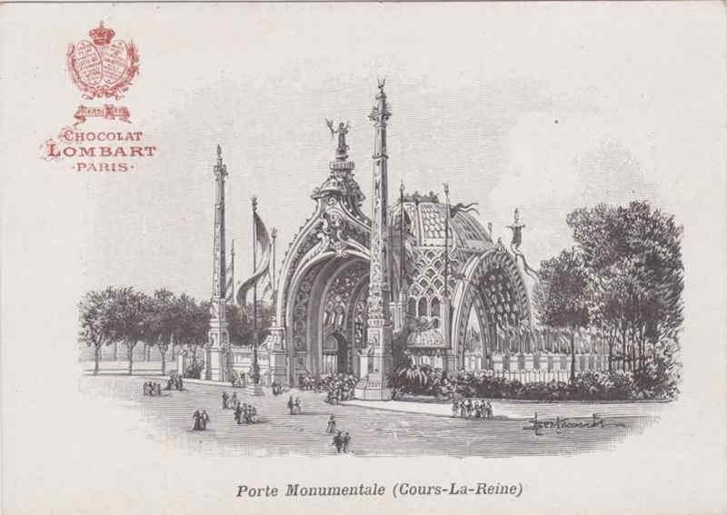 Expo Paris 1900 - Carte Postale - Porte Monumentale - Porte Binet