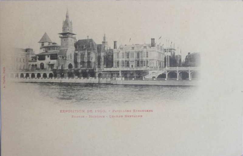 Expo Paris 1900 - Carte Postale -Rue des Nations