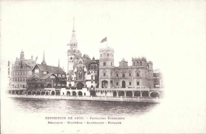 Expo Paris 1900 - Carte Postale - Rue des Nations