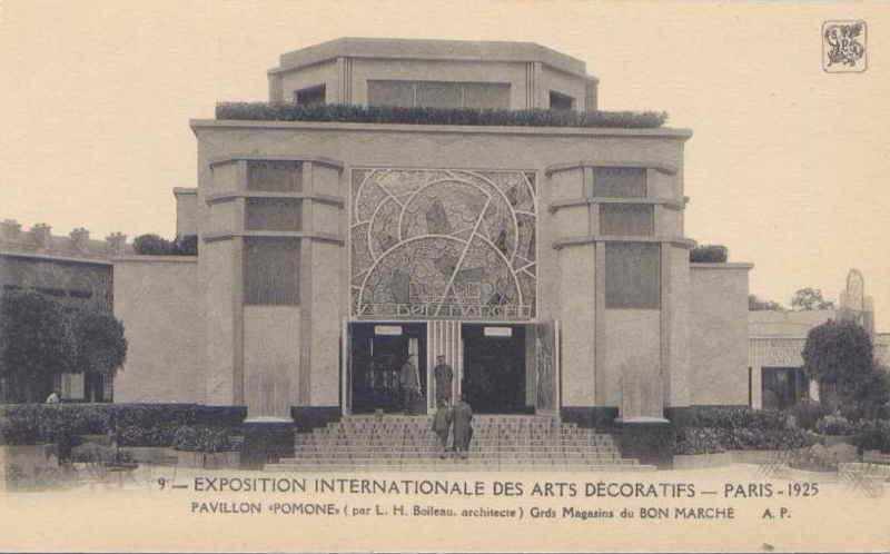 Expo Paris 1925 - Carte postale - Pavillon du Bon Marché - Pomone