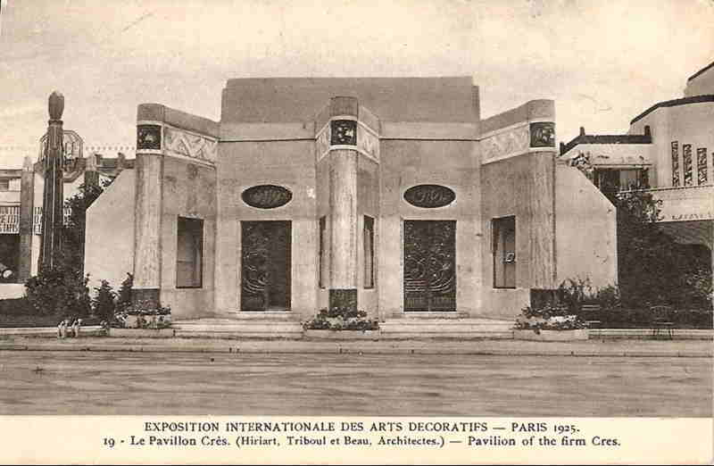 Expo Paris 1925 - Carte postale - Pavillon des Editions Crès et Cie