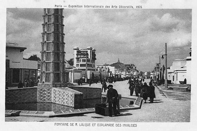 Expo Paris 1925 - Carte postale - Fontaine de René Lalique