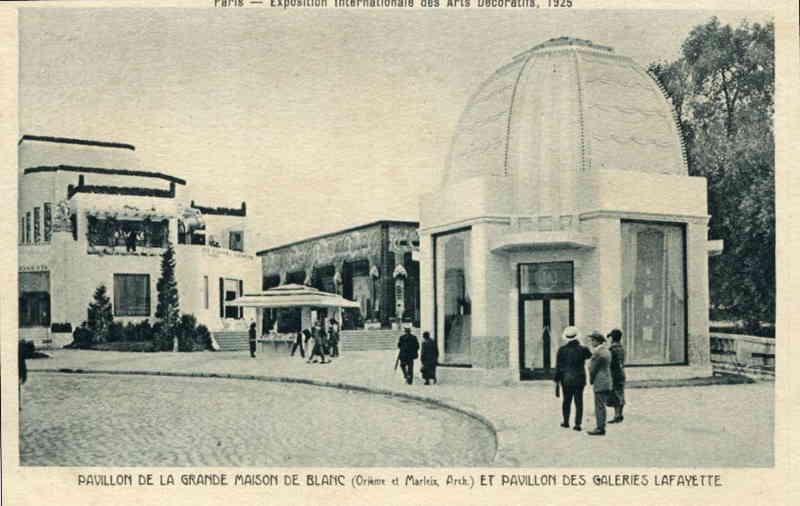 Expo Paris 1925 - Carte postale - Pavillon des Galeries Lafayette - La maitrise