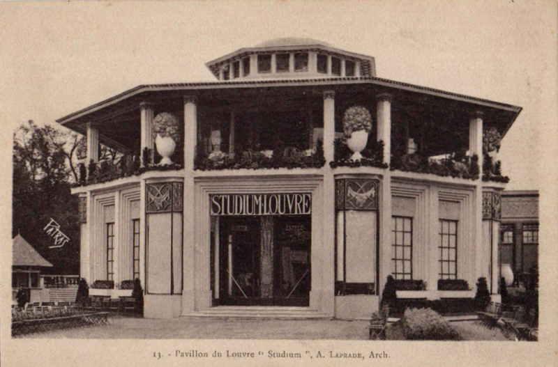 Expo Paris 1925 - Carte postale - Pavillon Studium des Magasins du Louvre
