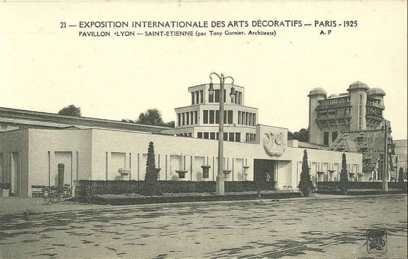 Expo Paris 1925 - Carte postale - Pavillon Lyon - Saint-Etienne