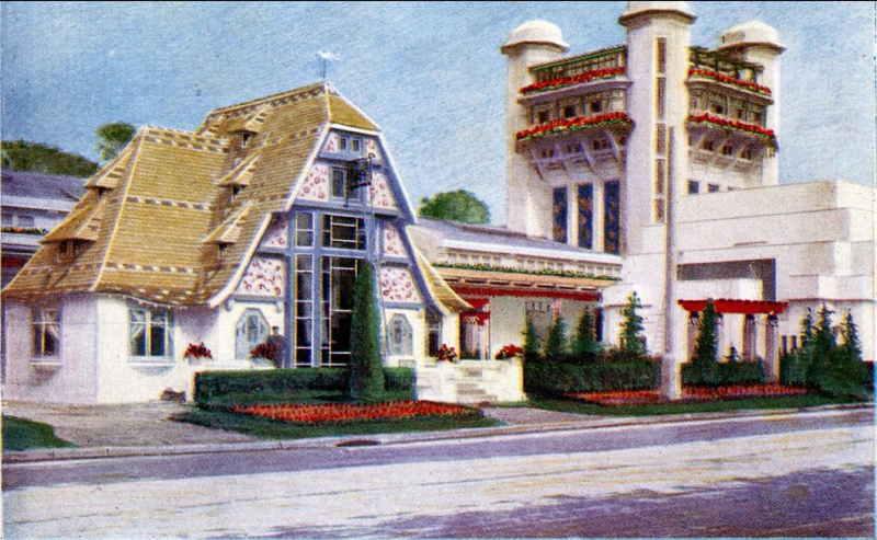 Expo Paris 1925 - Carte postale - Pavillon de Mulhouse