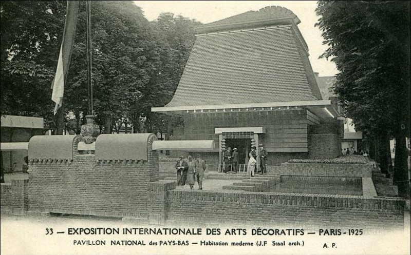 Expo Paris 1925 - Carte postale - Pavillon des Pays-Bas
